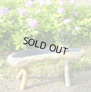 画像1: ガーデンベンチ型飾り台