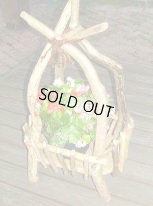 画像2: ガーデニング流木飾り台