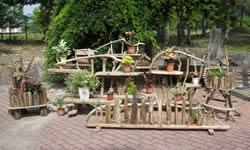 流木ガーデン施工例 流木アート作品例