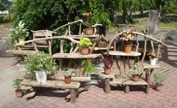 流木アート作品例 流木ガーデン施工例
