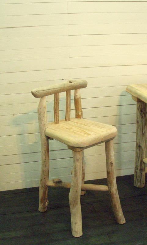 画像4: 流木テーブル・椅子3点 ...