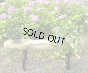 画像1: ガーデンベンチ型プランター 付き飾り台