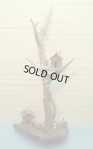 画像1: 流木ツリーハウスオブジェ  スタンド