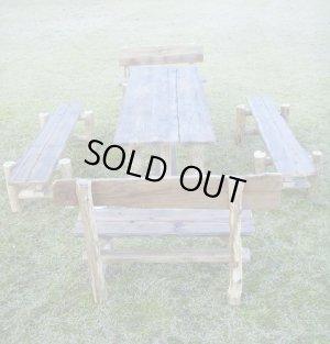 画像1: 大型流木テーブル・ベンチ5点セット 《HP限定特別棚卸し作品 !!》