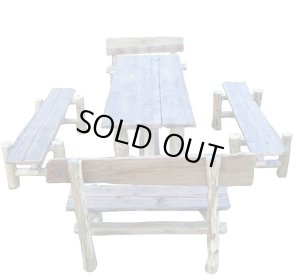 画像5: 大型流木テーブル・ベンチ5点セット 《HP限定特別棚卸し作品 !!》